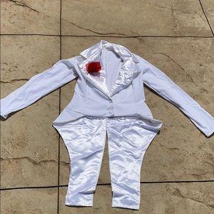 Dance costume white tuxedo